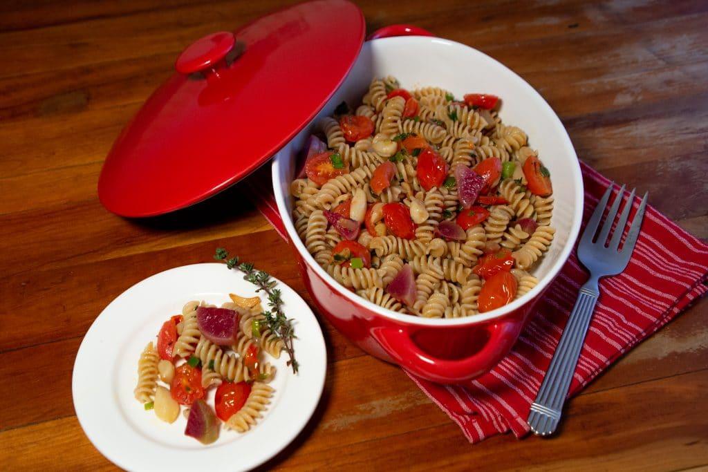 Garlic and Radish Confit Pasta