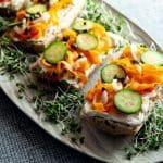 Smoky Carrot Lox Tartine