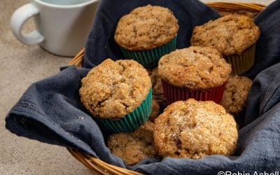 Stay in and Bake Banana-Tahini Muffins with Crystallized Ginger