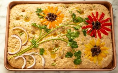 Make a Decorated Focaccia, Brighten the Day