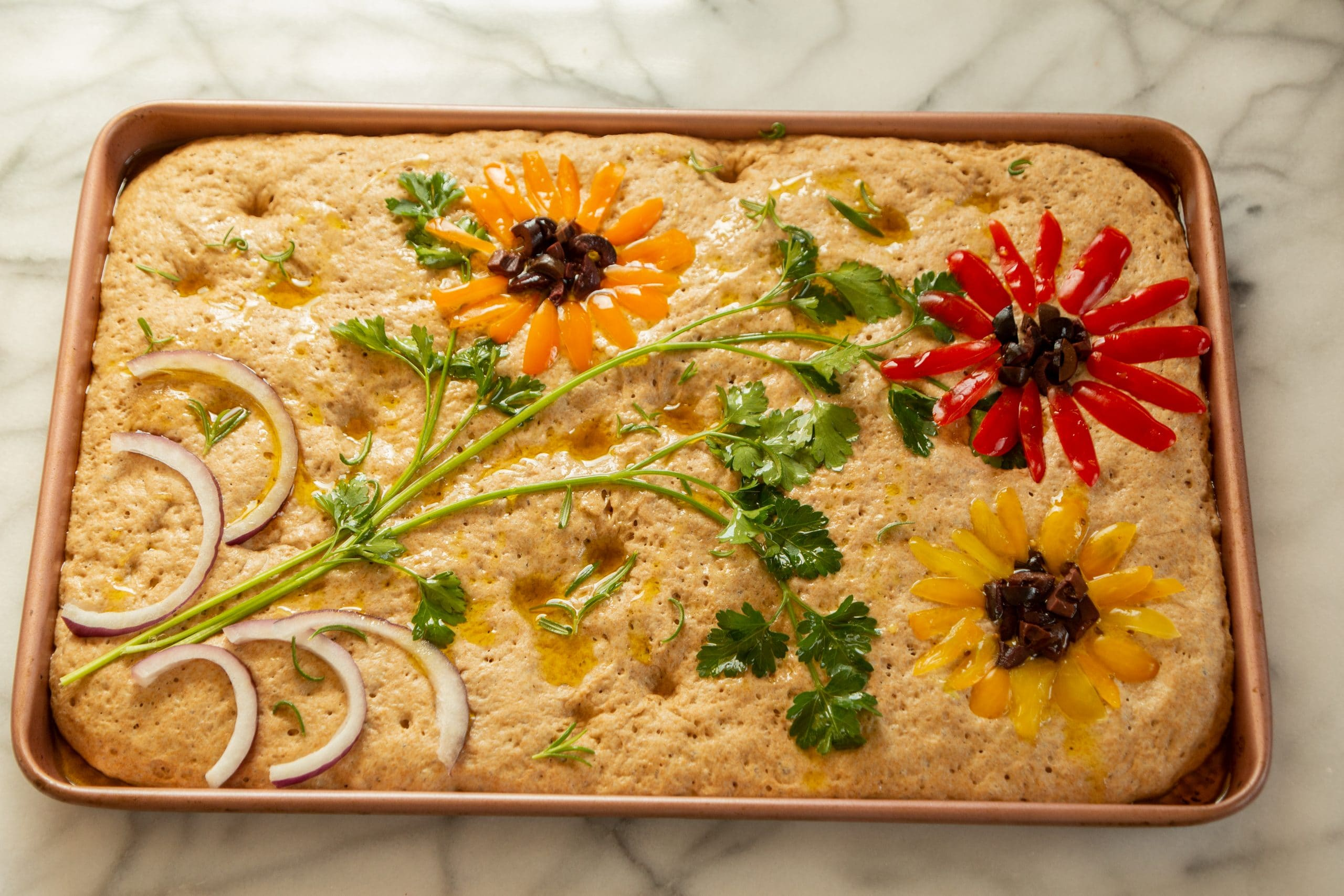 Make A Decorated Focaccia Brighten The Day Chef And Author Robin Asbell