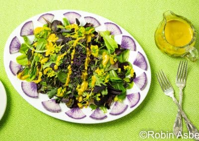 Salad with Turmeric Dressing