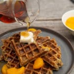Oat Flour Waffles with Chia