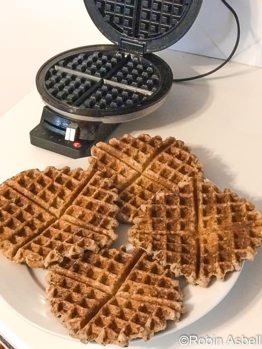 Oat Flour Waffles and Waffle Iron