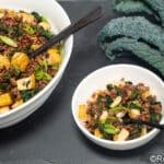 kale and kimchi fried rice