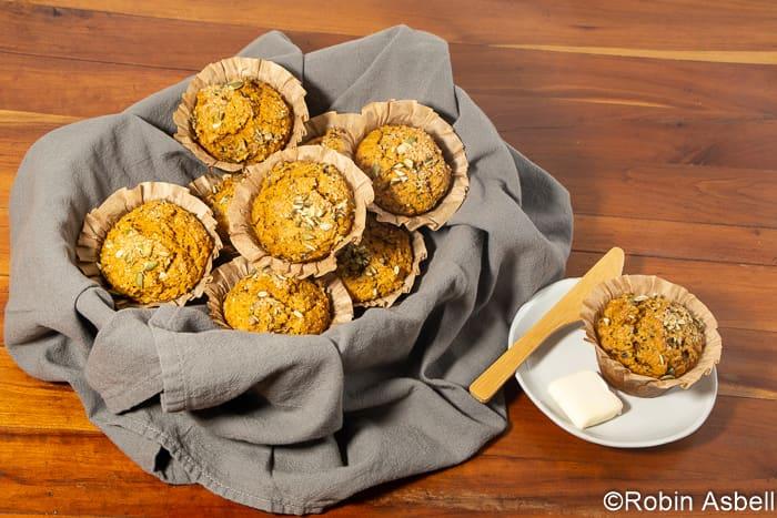 Squash and Wild Rice Make Comforting Muffins