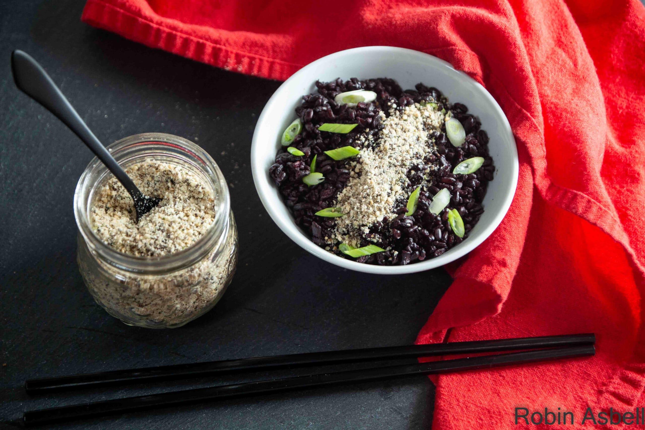 gomasio over black rice