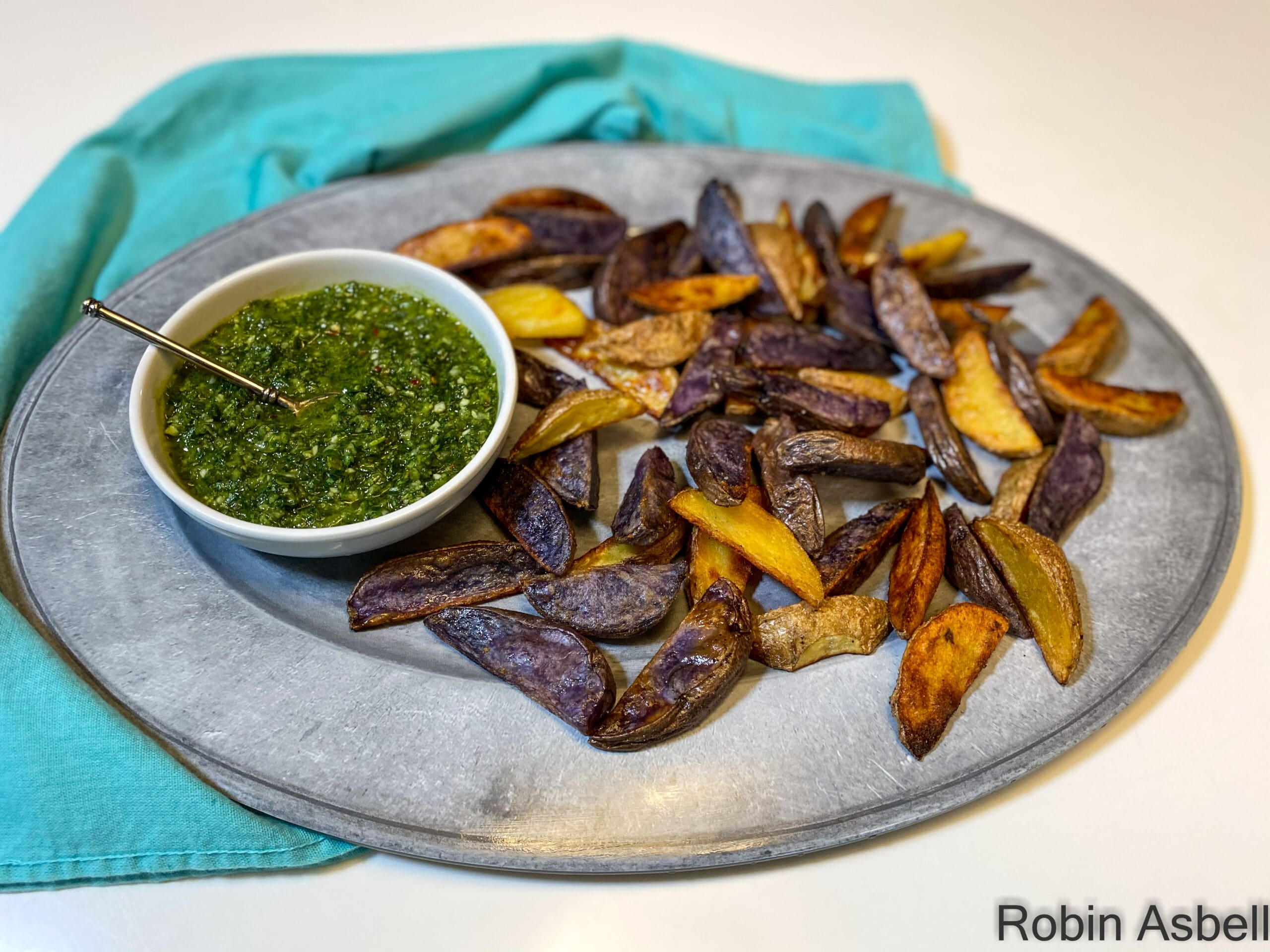 Ditch the Chips, Dip Roasted Potato Spears in Chimichurri