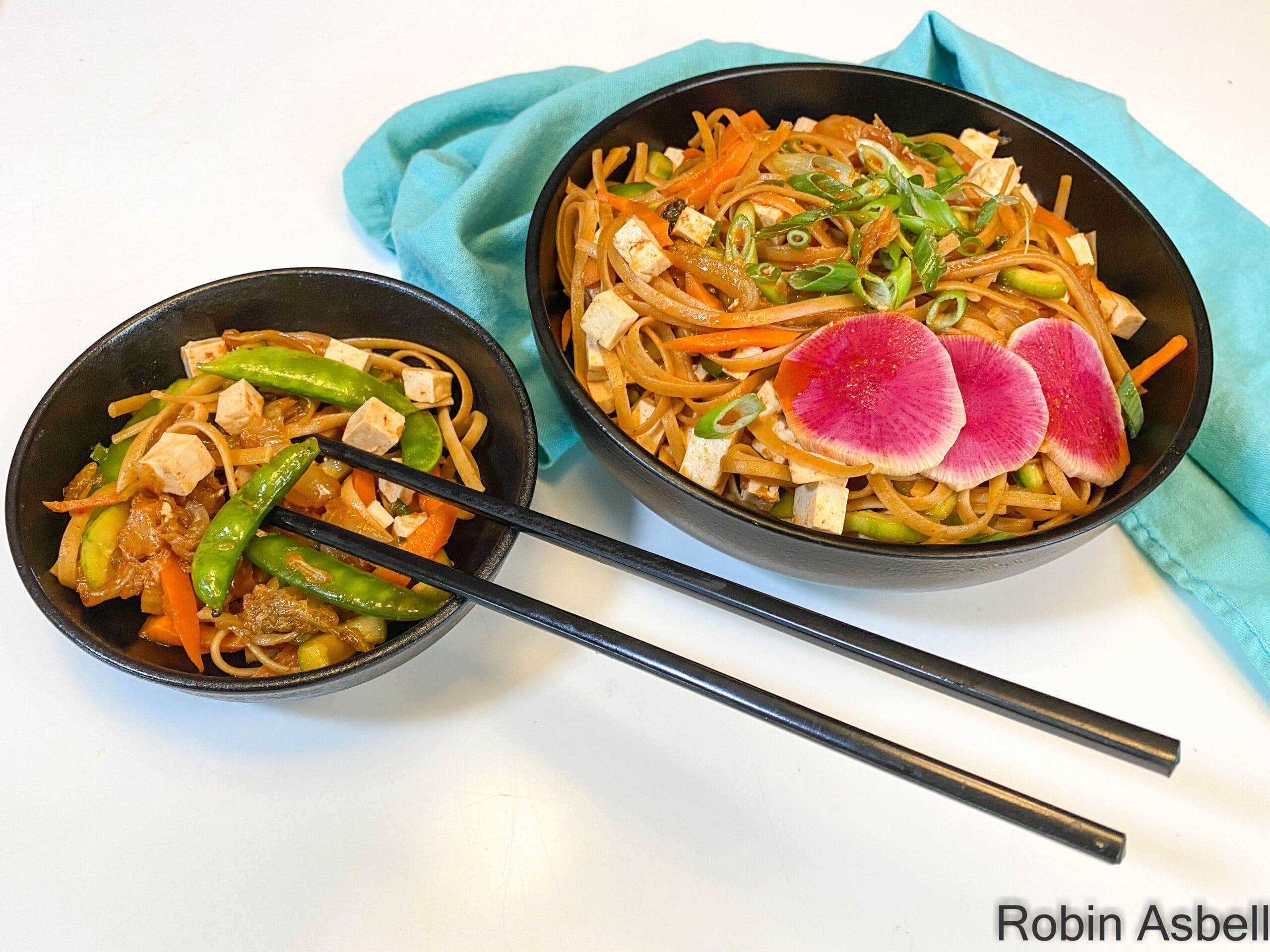 Kimchi Noodles with Tofu- a Riot of Flavor