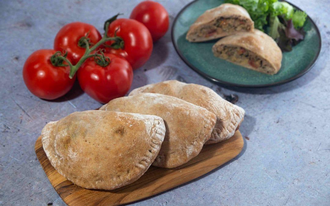 Chickpea and Pecan Pesto Calzones