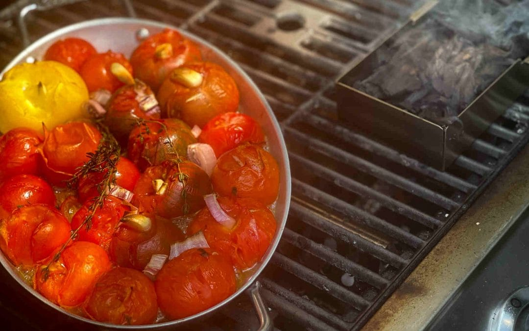 Smoked Tomatoes on the Grill, to Freeze for When The Cold Winds Blow!