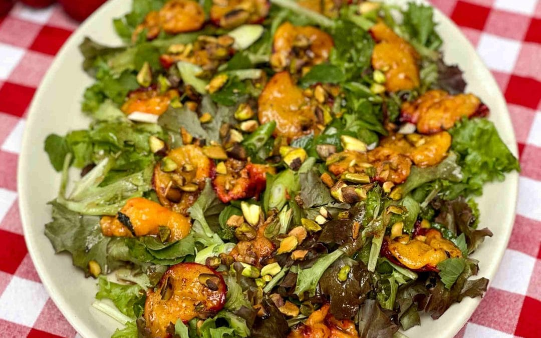 Grilled Plum Salad-A Kiss Of Fire Makes Fruit Sing!