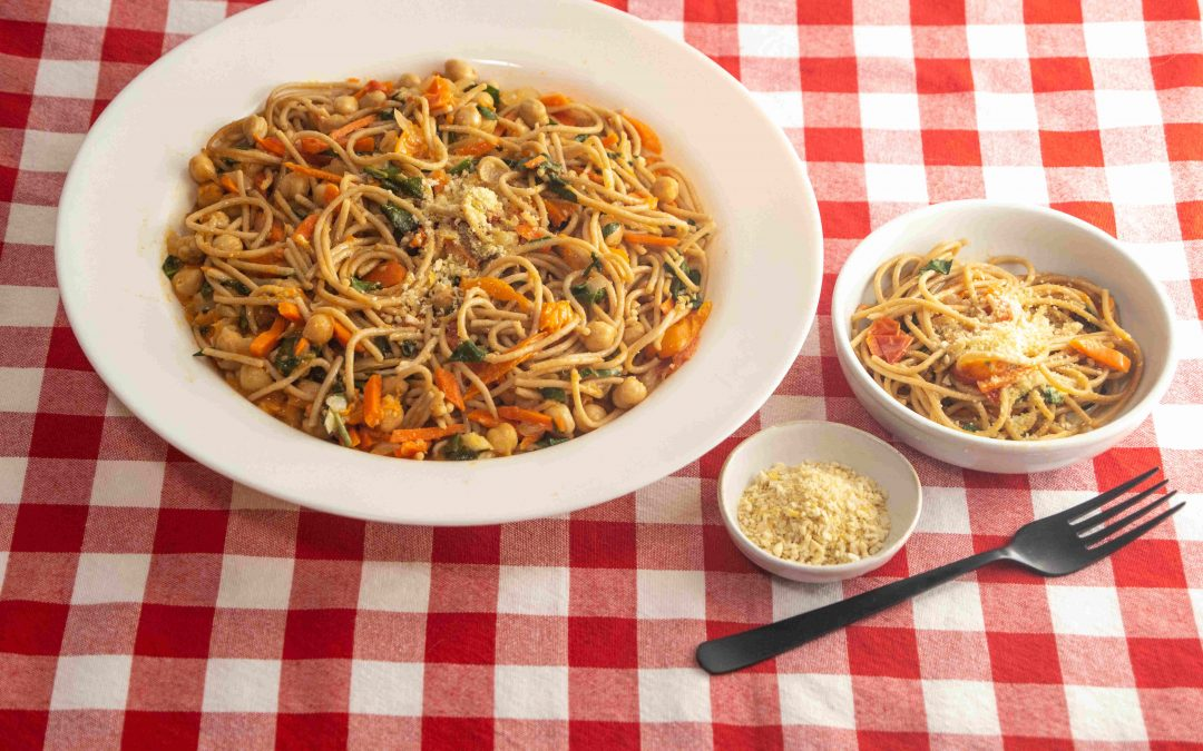 One-Pan Spaghetti with Chickpeas