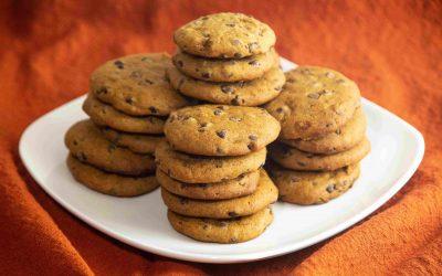 Pumpkin Spice Chocolate Chip Cookies